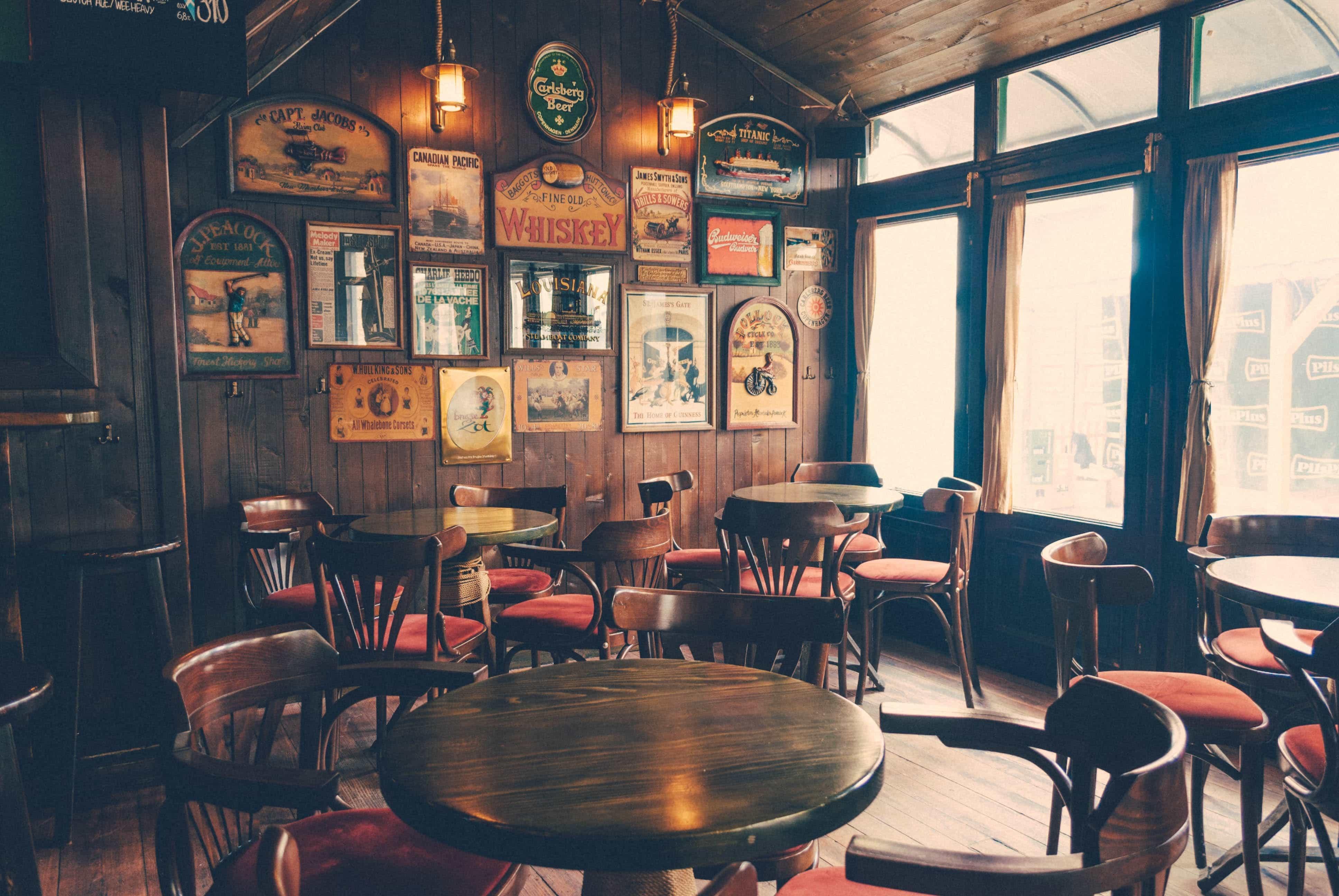 arredare un bar in stile vintage